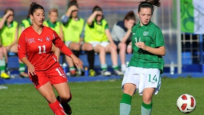 Mirjine Selimi (Switzerland) & Katie McCabe (Republic of Ireland)