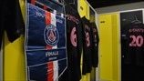The Paris Saint-Germain dressing room