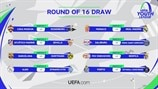 UEFA Youth League round of 16 draw
