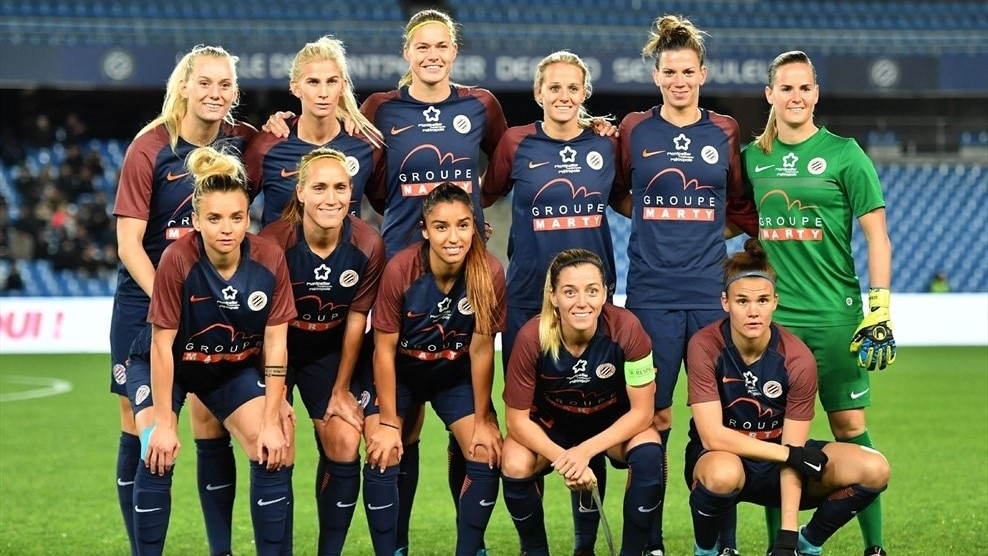 Montpellier squad picture UWCL