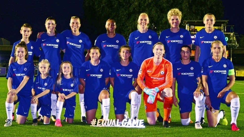 Chelsea squad picture UWCL