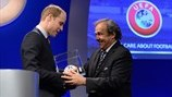 Prince William & Michel Platini