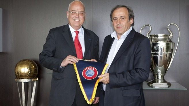 Michel Platini in Liechtenstein